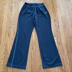 Adidas Track Pants Blue Flared Leg Size Small